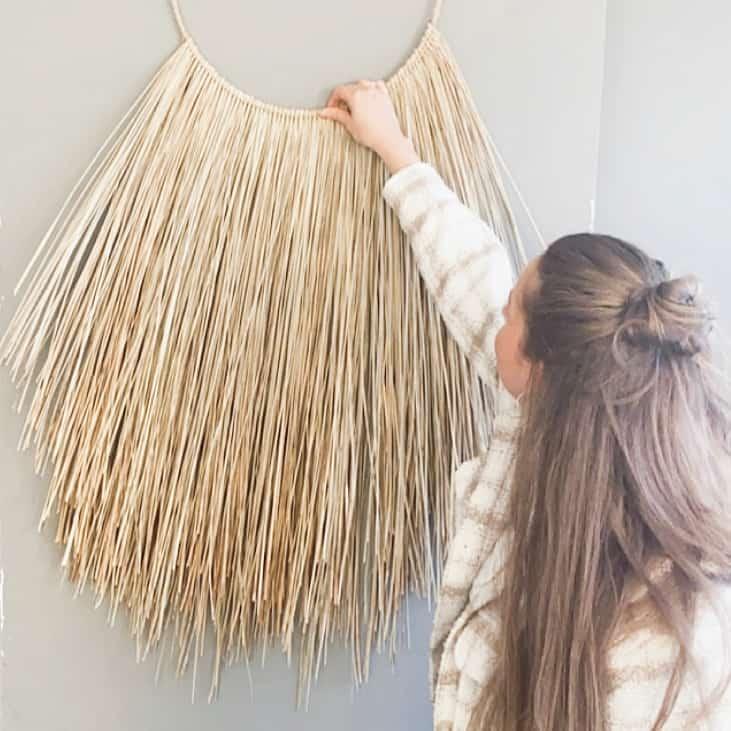workshop wandhanger zeegras maken